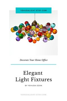 #yehudalight  Decorate your home office with this elegant Bubbles Lighting, Ceiling Pendant light with Multicolored bubbles for Kitchen island, bedside light - modern lighting bedroom ideas bedroom aesthetic home office lighting home office for two