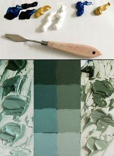 Oil Painting Basics, Oil Painting Lessons, Oil Painting For Beginners, Oil Painting Techniques, Painting & Drawing, Art Techniques, Mixing Paint Colors, Color Mixing, Oil Paint Colors