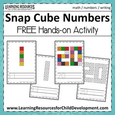 Our Snap Cube Numbers focus on number identification, number formation, handwriting, and fine motor skills! Children will put the snap cubes together in the same shape as the number mat. They will then trace the numbers on the page and write their own. Numbers Preschool, Learning Numbers, Math Numbers, Writing Numbers, Math Classroom, Teaching Math, In Kindergarten, Preschool Activities, Number Activities