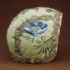 Infant's bonnet | France, late 18th century | Materials: silk, metallic threads | Los Angeles County Museum of Art, LACMa