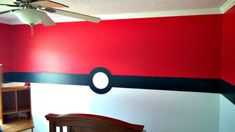 Check out this Pokemon bedroom transformation. We turned our son's room into a Poke Ball! How cool is that. Pokemon fans will love this bedroom.