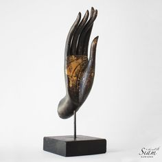 Buddha Mudra Hand Sculpture. Wooden Hand Crafted & by SiamSawadee / Sacred Spaces <3