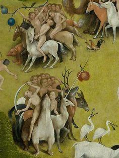 Le jardin des délices, panneau central, détail, entre 1480 et 1490 - Jérôme…:
