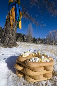 Offerings to the mountain god: Mongolia