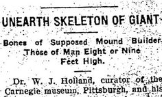 Headlines of Giant Human Skeletons Found in the Midwest