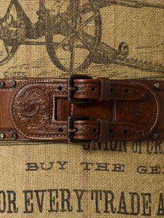 Katy Leather Horseshoe Belt - Belts  Women - RalphLauren.com