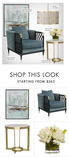 """""""Modern Classic Living Room"""" by kathykuohome ❤ liked on Polyvore featuring interior, interiors, interior design, home, home decor, interior decorating, living room, modern, livingroomdecor and modernclassic"""