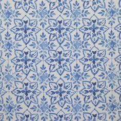 Avignon Porcelain 100% Cotton 140cm 64cm Curtaining