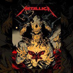 Rock Posters, Band Posters, In Flames Band, Metallica Art, Band Wallpapers, Heavy Metal Bands, Thrash Metal, Silk Screen Printing, Galaxy Wallpaper