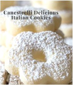 Delicious and yummy cookies recipes Delicious Cookie Recipes, Yummy Food, Italian Cookies, Special Recipes, Yummy Cookies, Doughnut, Italian Recipes, Make It Simple, Spoon