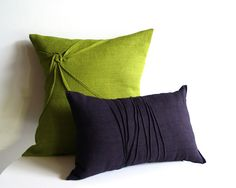 yorktown road | pleated linen pillows