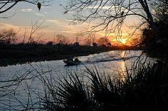Sunset along Haines Creek near Leesburg, Florida.