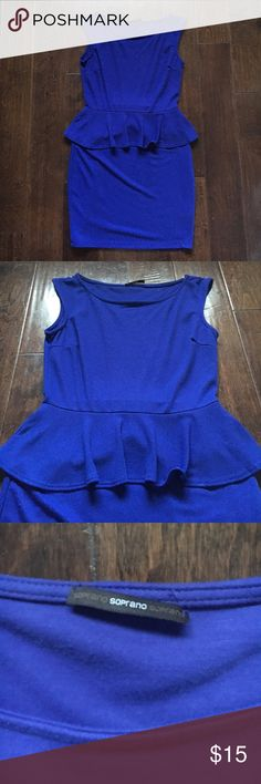 Blue dress! Its is a very confortable dress. Has a little skirt all around thats makes you a great shape. Its a little large for me. It is a medium. Dresses Mini