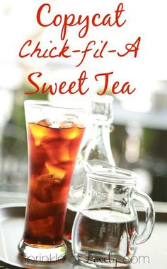 Have you ever pulled up into the Chick-Fil-A drive-through speaker and realized it's Sunday? Never miss out on Chick-Fil-A again. Enjoy these 18 chick-fil-a copycat recipes. Refreshing Drinks, Summer Drinks, Fun Drinks, Cold Drinks, Sweet Tea Recipes, Iced Tea Recipes, Drink Recipes, Brownie Desserts, Non Alcoholic Drinks