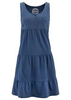 Tiered Jersey Dress by Bonprix Modest Dresses Casual, Stylish Dresses, Simple Dresses, Nice Dresses, Short Dresses, Fashion Dresses, Dresses For Work, Summer Dresses, Blouse Dress