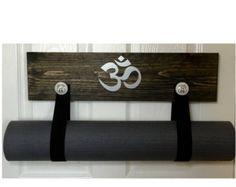 Yoga schwarz Yoga Mat Halter handgemachte von YogaWares auf Etsy