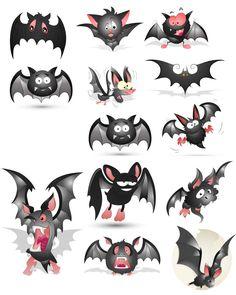 Bat pictures vector