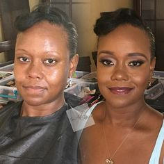 Before   After #iraanthonymua #glamsession  ________________ #bridal #beauty #blackopal #brows #lashes #phillymua #iraanthonymua #glow #fallbride #highlight #contour #beat #snatched #mac