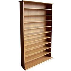 HARROGATE - CD / DVD / Blu-ray Media Storage Shelves - Oak