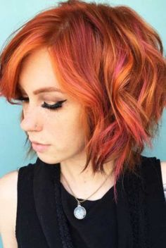 20 Lovely Styling Ideas For Layered Bob Hair - All For Hair Color Balayage Short Layered Haircuts, Short Hair Cuts, Short Hair Styles, Pixie Haircuts, Red Pixie Haircut, Bobs For Thin Hair, Layered Bob Hairstyles, Short Red Hairstyles, Braided Hairstyles