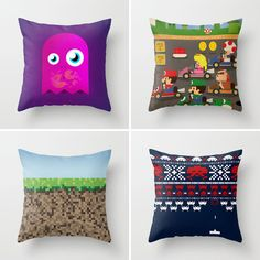 Love this gamer pillows. Mario, Luigi, Princess Peach, Toad, and the whole gang!