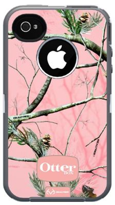 Pink Realtree camo Otterbox case for iPhone 4