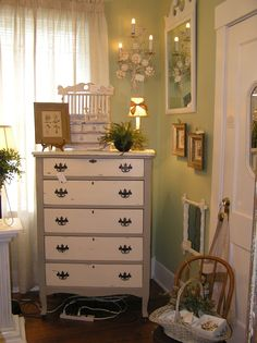 vintage chalk painted dresser... available at Park Street Antiques in Jacksonville, FL