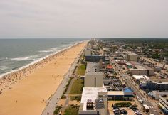Virginia Beach (went here several times on family vacations...pretty but crowded...I like Rehoboth Beach in Delaware better)