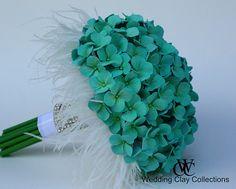 #Tiffany Blue Wedding ... Bridesmaid Bouquet- Tiffany Blue