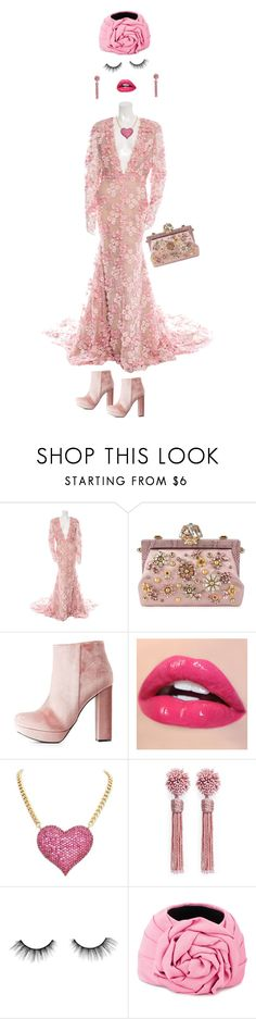 """""""Ugly gown"""" by earthkeeper ❤ liked on Polyvore featuring Naeem Khan, Dolce&Gabbana, Charlotte Russe, Mignonne Gavigan, tarte and Gucci"""