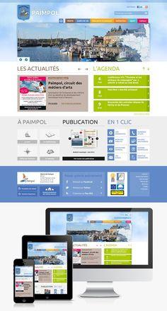 Création du site Internet de la ville de Paimpol (22) #Webdesign #Responsive #Mairie #Ville #Colterr : http://www.ville-paimpol.fr