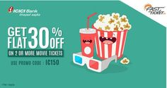 Get 30% OFF On Movie Tickets (ICICI Users) at Fast Ticket Online Coupons, Movie Tickets, Coupon Codes, How To Apply, Coding, Movies, Films, Cinema, Movie
