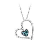 Fred Meyer Jewelers   1/6 ct. tw. White and Treated Blue Diamond Pendant
