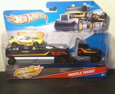 Hot Wheels Muscle Mania Hauler and Car. New in package 3+ Hot Wheels Muscle Mania Hauler and Car. Ages 3+ New, purchased for resale by Keywebco Video inspected when shipped Ships Fast and Free from the USA The item for sale is pictured and described on this page. The stock photo may include additional items for display purpose only - which will not be included. Packages may show wear or be opened if the battery is replaced or during the inspection.   https://nemb.ly/p/rkEi4UdL_ Happily…