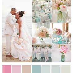 Beach wedding colors