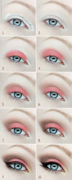 Coral Eyeshadow | Colorful Eyeshadow Tutorials | Makeup Tutorials