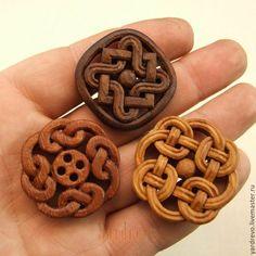 Купить Авторские резные деревянные пуговицы ручной работы - пуговицы, пуговица, пуговицы из дерева, деревянная