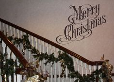 Wall Decal Merry Christmas Removable Vinyl Wall Decal