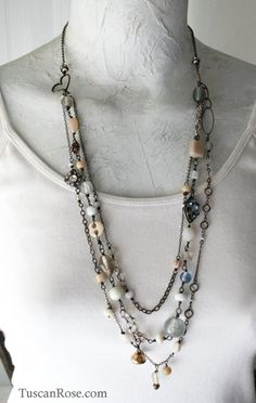 Prairie Sky assemblage Necklace $85.00, via Etsy.