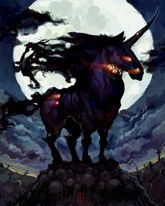 Dark Unicorne by ~Dentifrix on deviantART