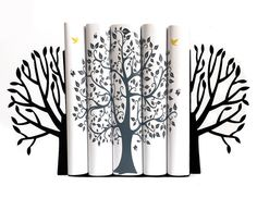 Metal Bookends Spring Tree // modern home by DesignAtelierArticle