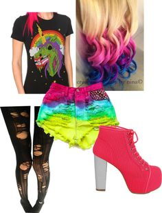 """zomb13 unicr0n"" by cosmic-rush ❤ liked on Polyvore"