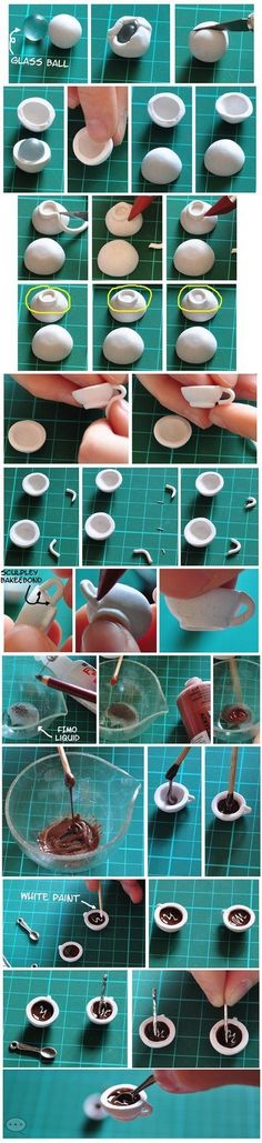Tuto tasse de café (bonne idée, la bille pour former l'intérieur de la tasse)