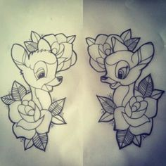 Bambie Disney Tattoo design