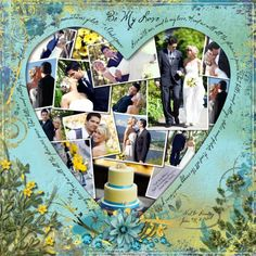 wedding scrapbooking page