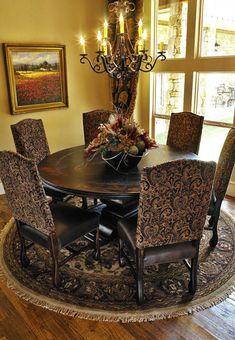 Home Interior Decorator Dallas de casas interior design design design and decoration ideas Tuscan Dining Rooms, Luxury Dining Room, Dining Room Chairs, Dining Decor, Dining Sets, Dining Tables, Tuscan Decorating, Interior Decorating, Decorating Tips