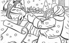 Download Spiderman Christmas Coloring Pages Kids Ideas