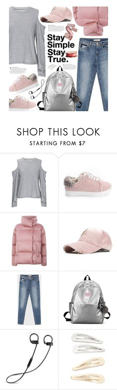 """""""Untitled #4151"""" by beebeely-look ❤ liked on Polyvore featuring Weekend Max Mara, Kitsch, casual, casualoutfit, casualfriday, fauxfur and gamiss"""