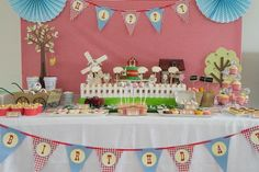 boy's farm birthday party