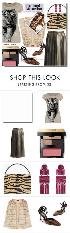 """""""Bez naslova #1138"""" by wuteringheights ❤ liked on Polyvore featuring WearAll, Bobbi Brown Cosmetics, Lele Sadoughi, Missoni, Manolo Blahnik, By Terry and MyFaveTshirt"""